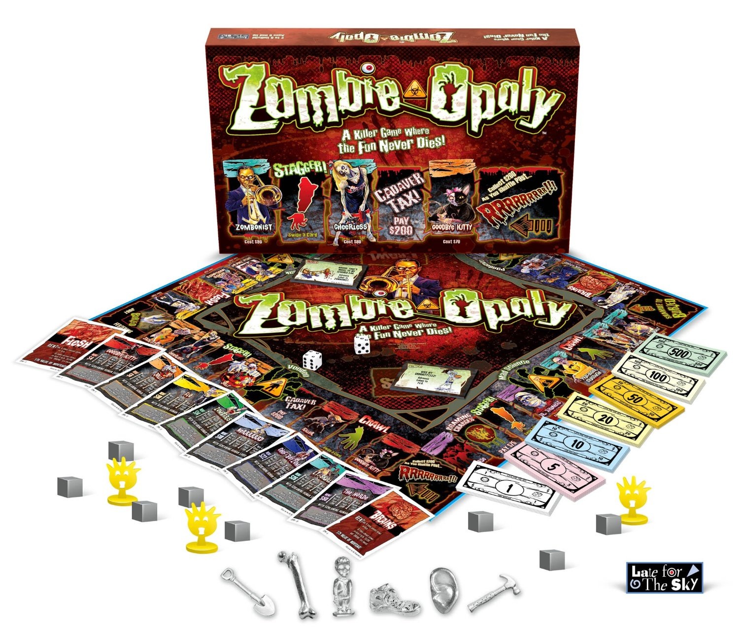 Zombie Opoly Board Game